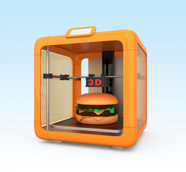 Hamburgare i 3D-skrivare för mat.