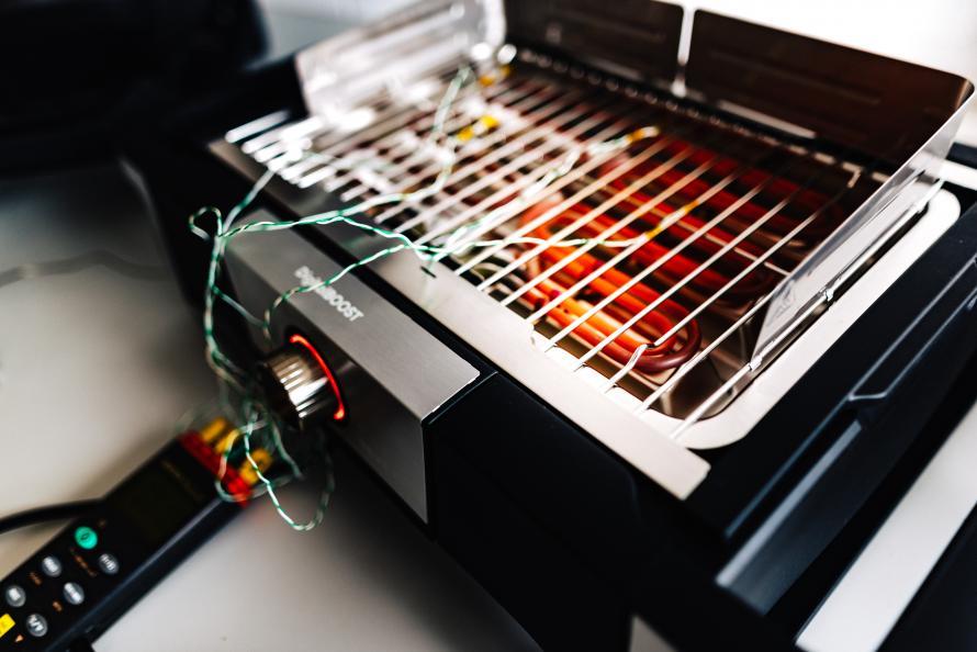 Mätning av gallrets temperatur.