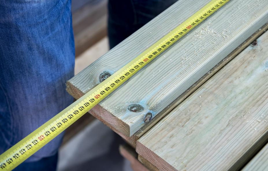 Laboratoriet mäter trallens längd. Foto: Anna Sigge