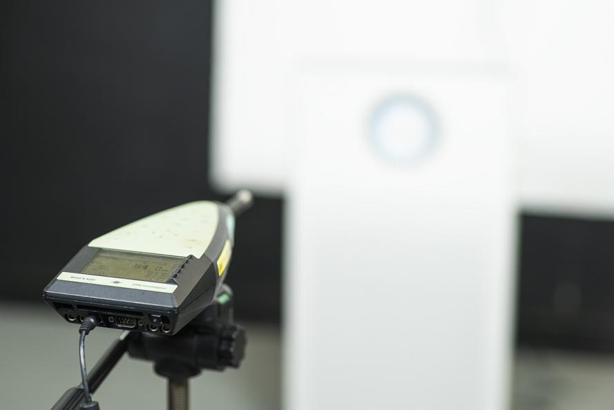 Ljudnivån i dB mättes på en meters avstånd och från alla vinklar. Foto: Redshift Photography