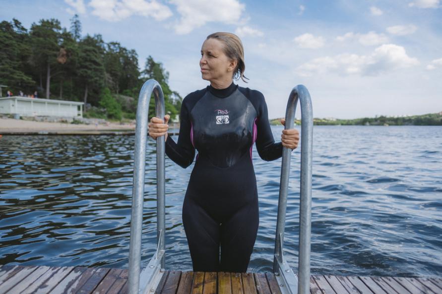 våtdräkt simning test