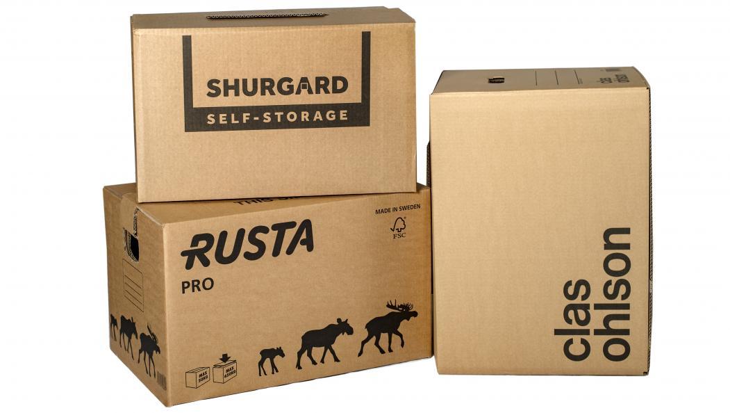 Rustas flyttlåda PRO testades tillsammans med flyttlådor från Shurgard och Clas Ohlson. Foto: Anna Sigge