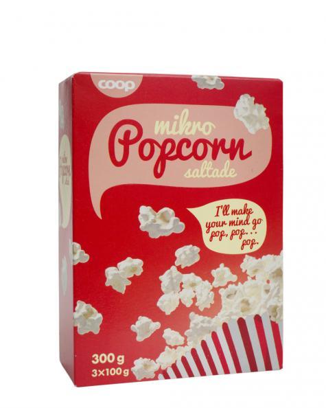 Testfakta Popcorn och pommes Coop