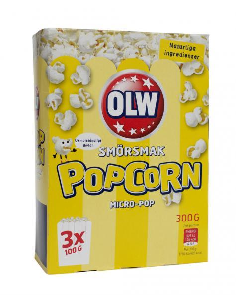 Testfakta Popcorn och pommes OLW