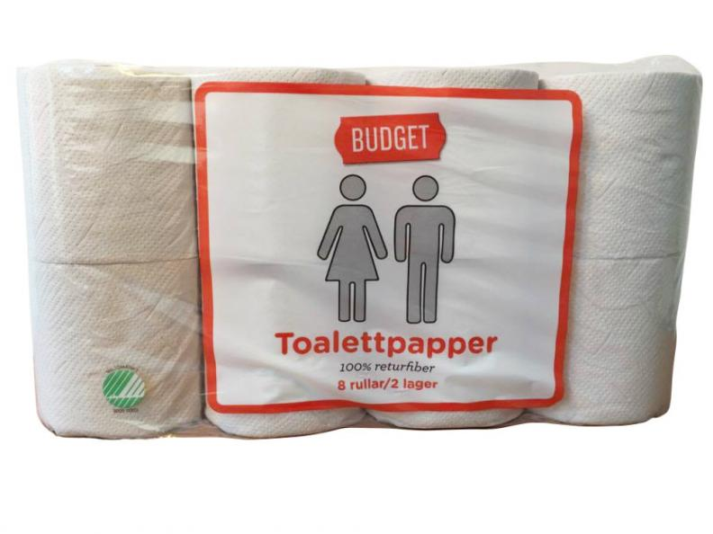 Testfakta testar toapapper Budget.