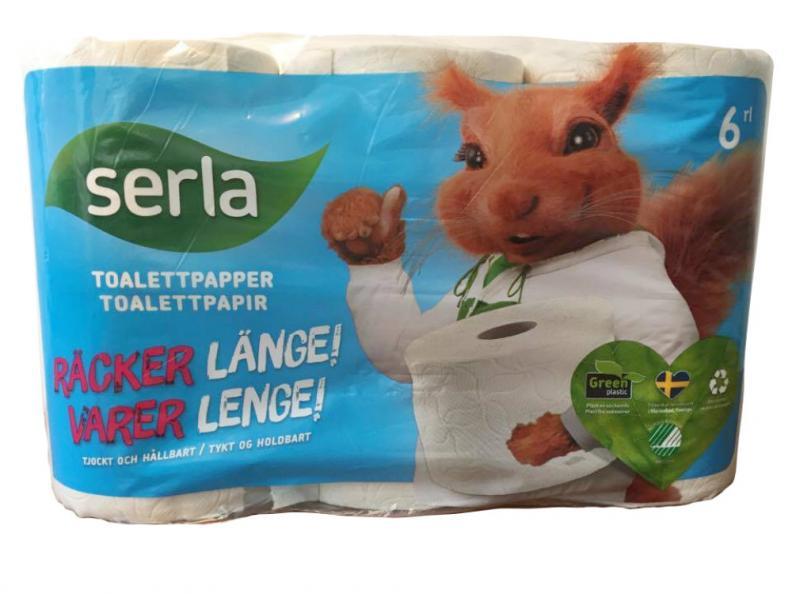 Testfakta testar toapapper Serla.